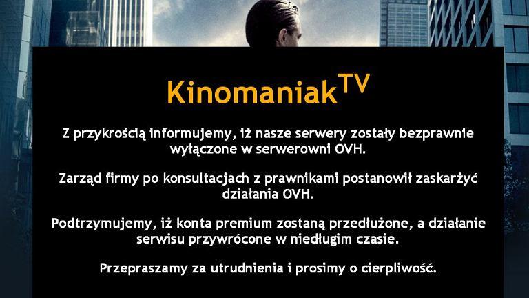 Oświadczenie Kinomaniaka o zawieszeniu działalności