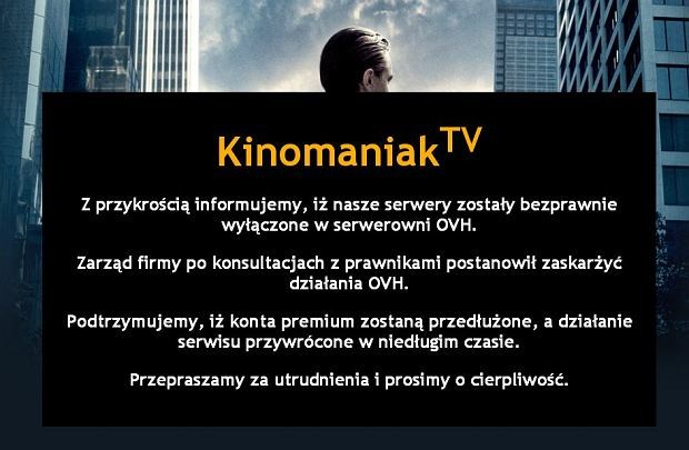 O�wiadczenie Kinomaniaka o zawieszeniu dzia�alno�ci