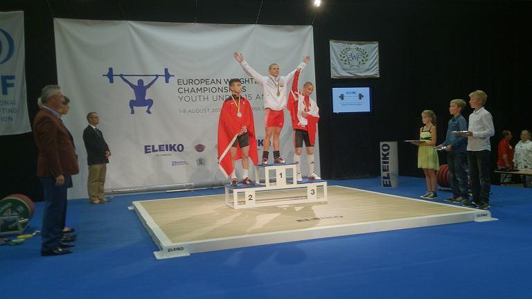 Martin Stasik zdobył brązowy medal mistrzostw Europy do lat 15 w podnoszeniu ciężarów w Szwecji