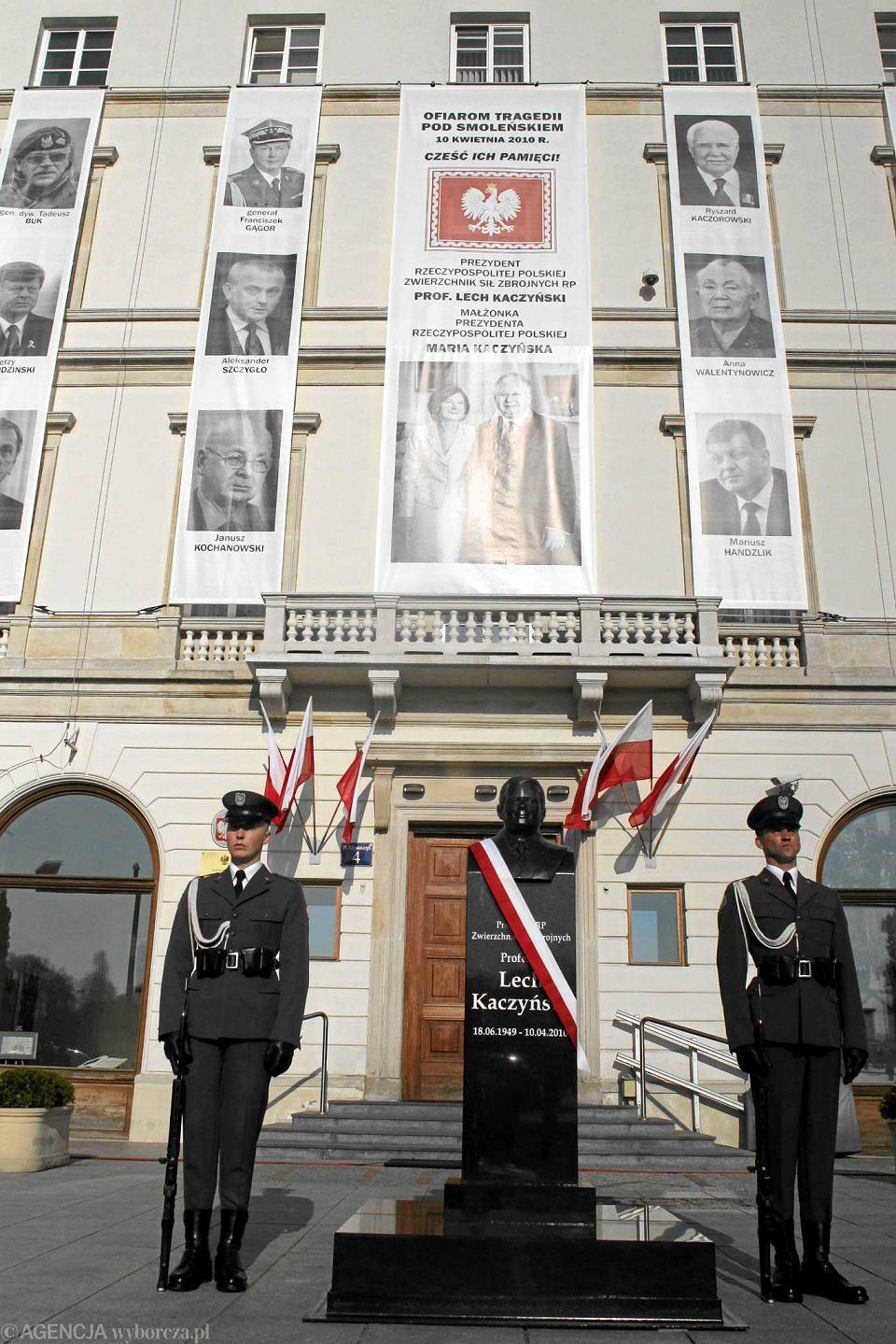 Katastrofa smoleńska  Pomnik Lecha Kaczyńskiego