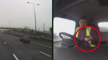 To dramatyczne nagranie dobitnie pokazuje, jak ko�czy si� korzystanie z telefonu w czasie jazdy