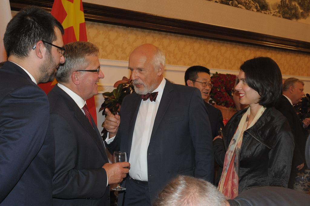 Janusz Korwin-Mikke z żoną