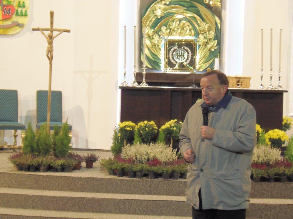Stanisław Michalkiewicz w kościele św. Urbana w Zielonej Górze