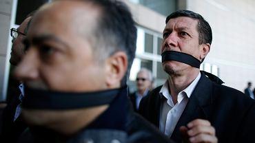 Tureccy dziennikarze protestują