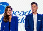 Anna Lewandowska i Robert Lewandowski na konferencji prasowej Head&Shoulders