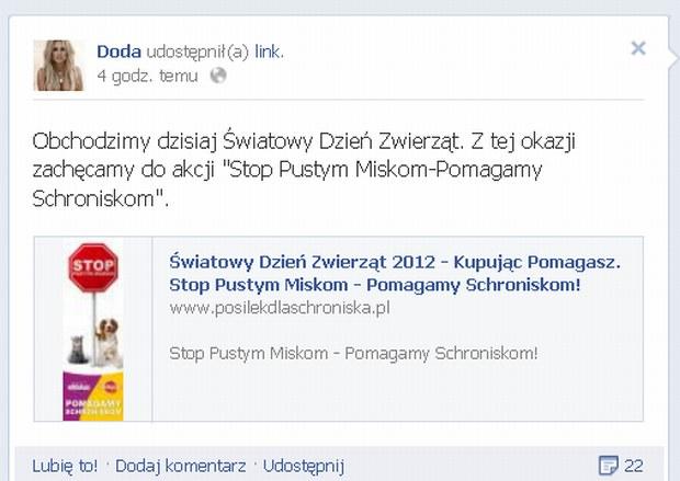 Doda, �wiatowy Dzie� Zwierz�t 2012