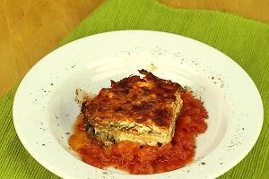 Zapiekanka z bak�a�ana i koziego sera