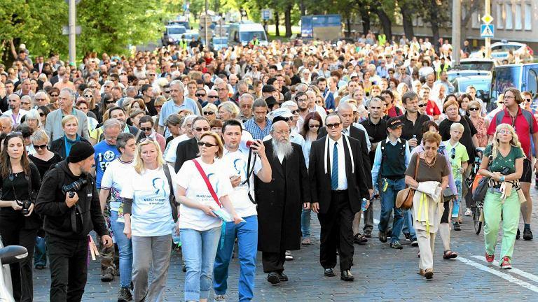 Marsz Pamięci w 70. rocznicę wielkiej wywózki mieszkańców warszawskiego getta