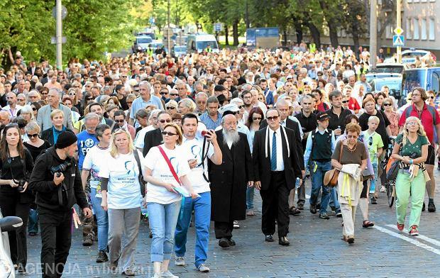Marsz Pami�ci w 70. rocznic� wielkiej wyw�zki mieszka�c�w warszawskiego getta