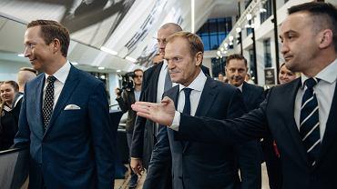 Donald Tusk na urodzinach Lecha Wałęsy