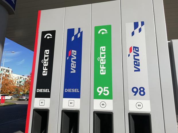 12.10.2018 Oznaczenia paliw na stacji Orlen