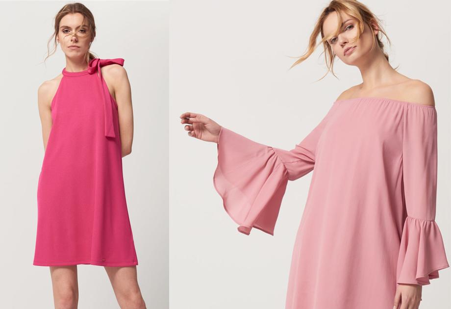 Różowe sukienki