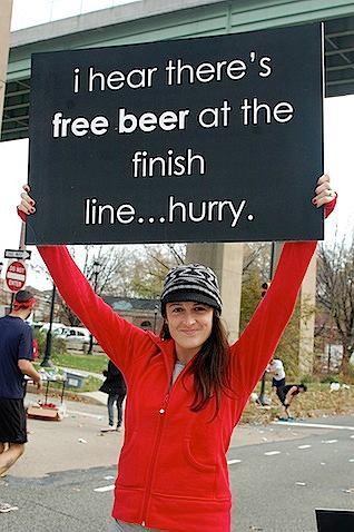 maraton, kibice,