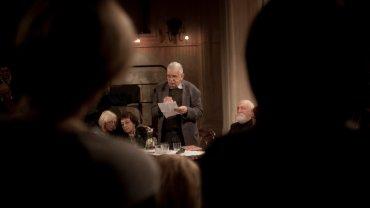 Sejny, Biała Synagoga. 25 lat Fundacji i Ośrodka Pogranicze. W środku - wybitny litewski poeta, eseista, Tomas Venclova, w 2001 roku uhonorowany tytułem Człowieka Pogranicza