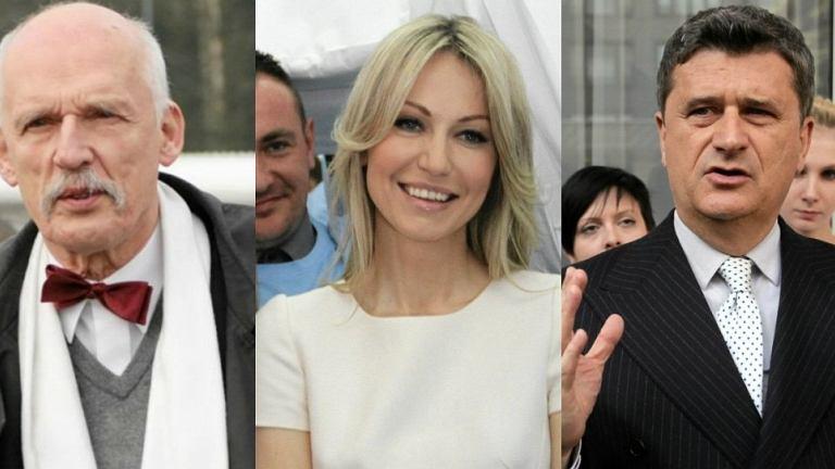 Janusz Korwin-Mikke, Magdalena Ogórek, Janusz Palikot