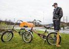 Rowery, kt�rymi imigranci przekraczaj� granic� rosyjsko-norwesk�