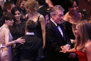 Aniston wita się z De Niro, a Bullock... Tego nie pokazały kamery! Gala od kulis