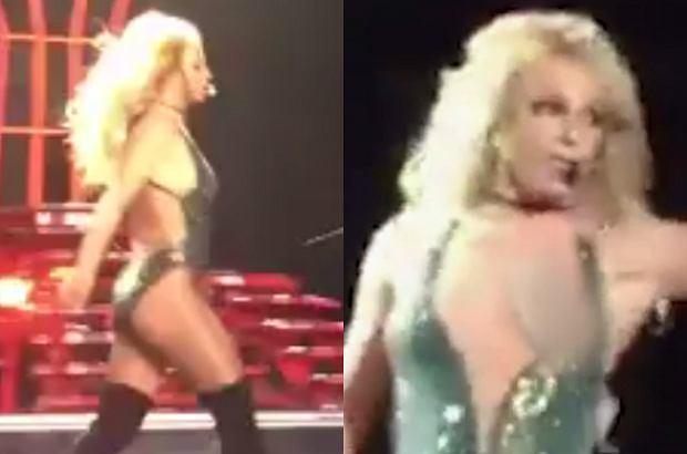 Britney Spears na koncercie w Las Vegas przegrała nierówną walkę z niesfornym kostiumem i zaliczyła dość krępującą wpadkę.