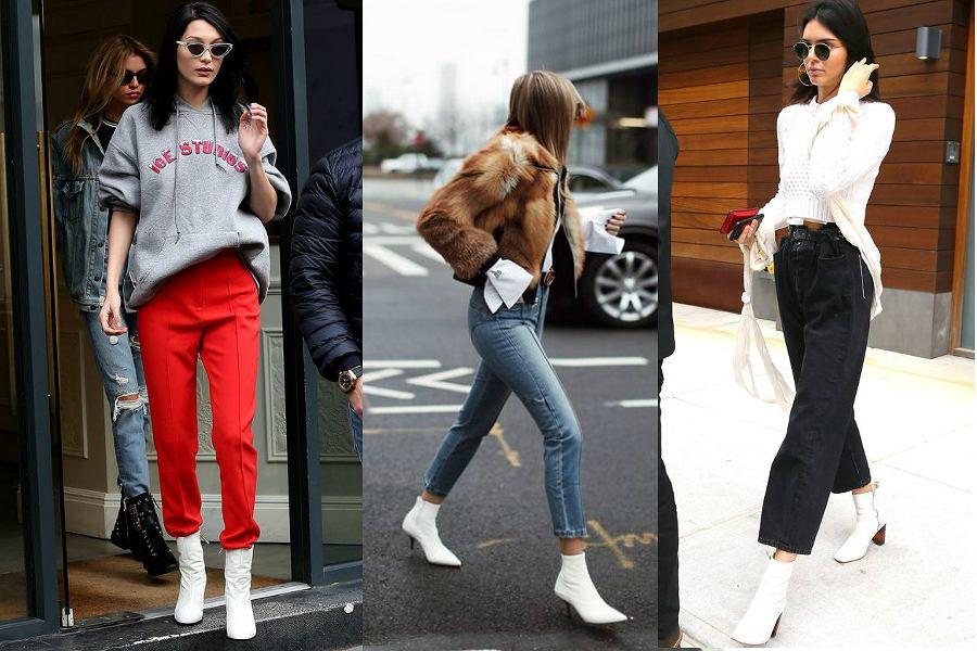 stylizacje z białymi botkami