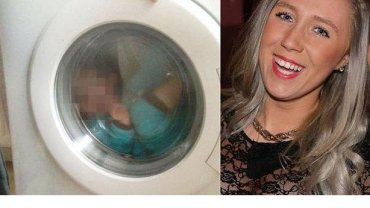 Courtney Stewart wrzuciła na Facebooka zdjęcie swojego synka w pralce