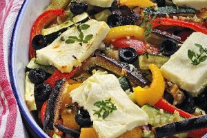 Warzywa zapiekane z fet�