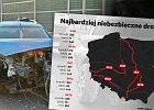 Setki groźnych wypadków i nawet dziesiątki zabitych. Oto najniebezpieczniejsze drogi w Polsce