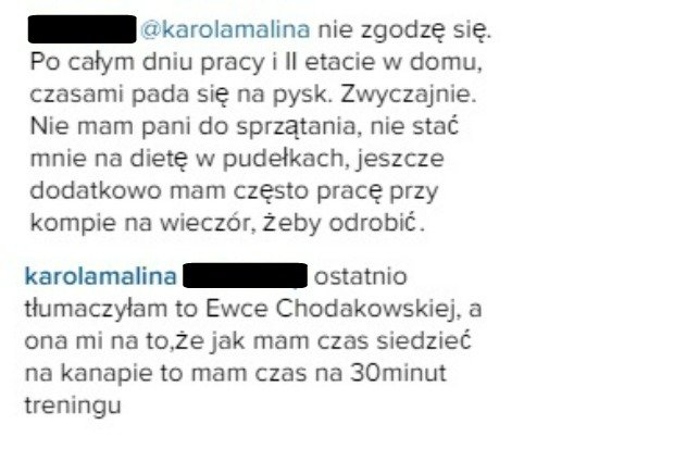 Komentarze z Instagrama Karoliny Malinowskiej