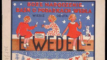'Boże narodzenie. Baśń o podarkach Wedla', książeczka do kolorowania dla grzecznych dzieci, 1931 r.