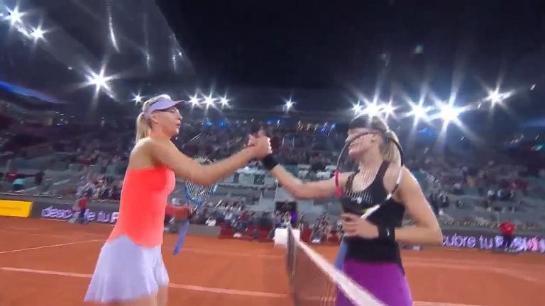 Eugenie Bouchard i Maria Szarapowa