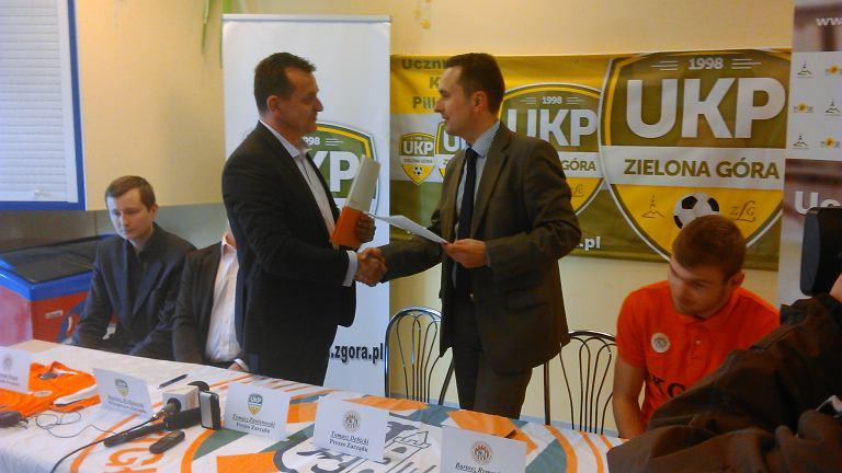 UKP Zielona Góra i Akademia Piłkarska KGHM Zagłębie Lubin umawiają się na współpracę