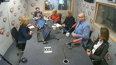 Wybory w TOK-u. Goście Dominiki Wielowieyskiej to:  Łukasz Schreiber - PiS, Joanna Mucha - PO, Piotr Zgorzelski - PSL, Agnieszka Ścigaj - Kukiz'15 i Krzysztof Mieszkowski - Nowoczesna.