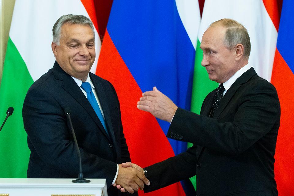 18.09.2018, Moskwa, spotkanie Viktor Orban - Władymir Putin.