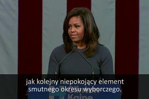 """Michelle Obama wychodzi na mównicę i zaczyna: """"Chciałabym udawać, że nic się nie stało. Ale nie mogę. To boli"""""""