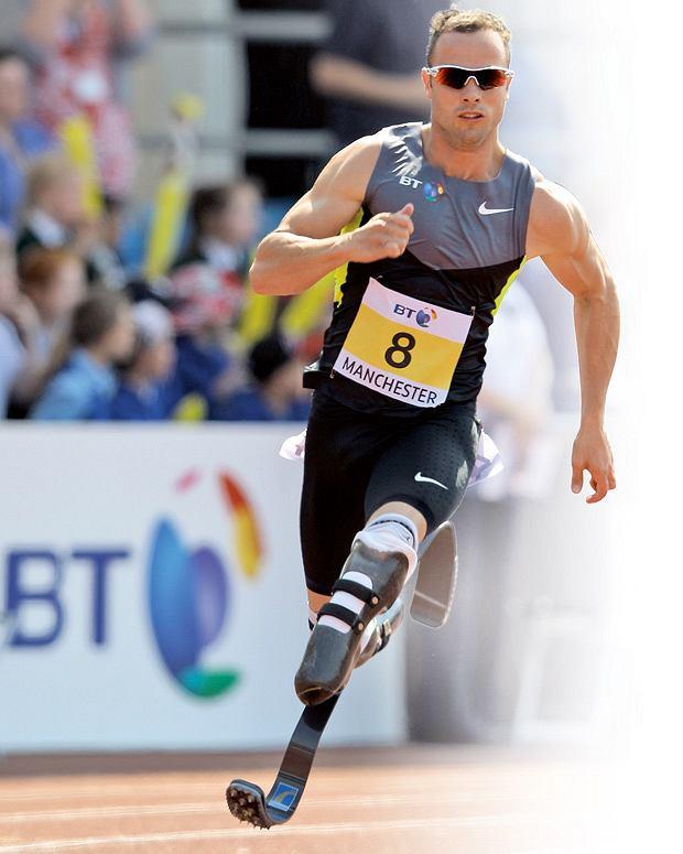 Oscar Pistorius zdobył cztery złote medale igrzysk, mimo że w wieku 11 miesięcy stracił obydwie nogi.