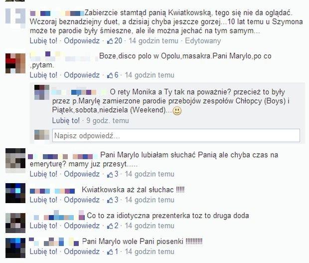 Komentarze internautów. Festiwal w Opolu.