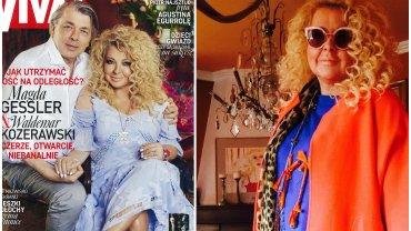 """Magda Gessler i Waldemar Kozerawski udzielili wspólnego wywiadu w najnowszej """"VIVIE"""". Para uczestniczyła także w sesji zdjęciowej, która miała miejsce w warszawskim domu restauratorki."""