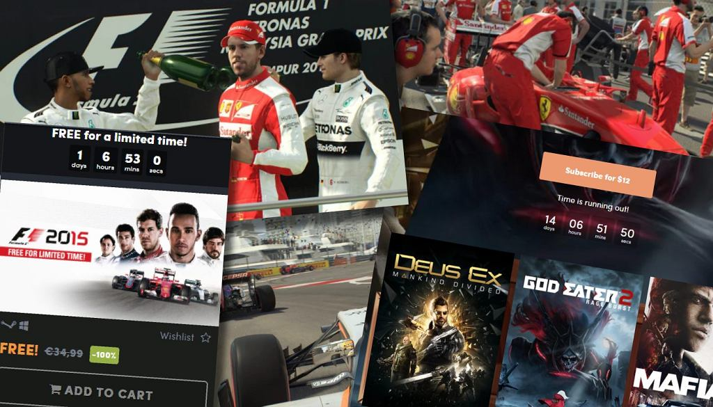 Grę F1 2015 można mieć za darmo