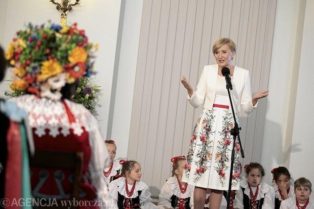 Agata Duda na obchodach 150-lecia Kół Gospodyń Wiejskich