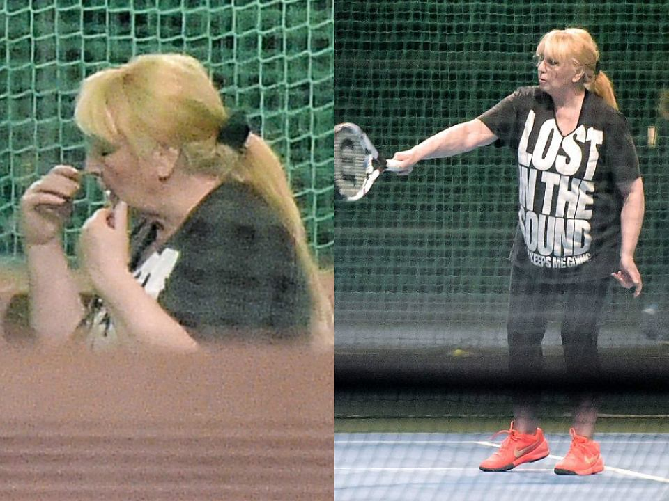 Zdjęcie numer 0 w galerii - Maryla Rodowicz na korcie tenisowym. Umiejętności robią wrażenie, podobnie jej makijaż. WOW