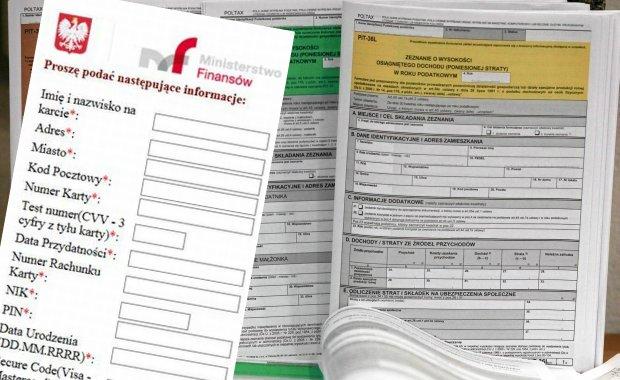 Czekasz na zwrot podatku? Uwa�aj, oszu�ci podaj� si� za ministerstwo i wy�udzaj� dane. Zobacz fa�szywy formularz