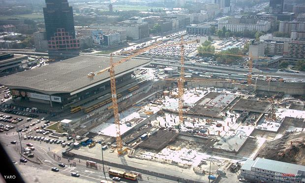 Złote Tarasy w budowie, 2003 rok.
