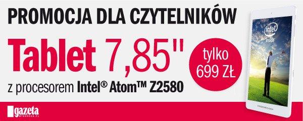 """Tablet Modecom 7,85"""" z procesorem Intel Atom w wyjątkowej cenie z kuponami z """"Gazety Wyborczej""""!"""