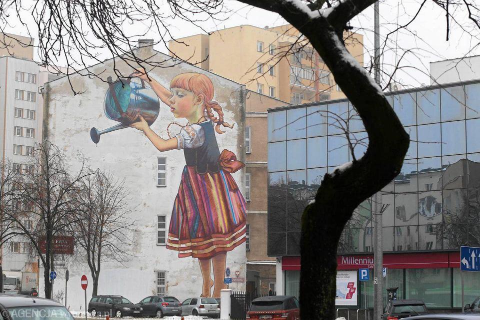 Bia ystok zostanie stolic nasze murale s najpi kniejsze for Mural dziewczynka z konewka