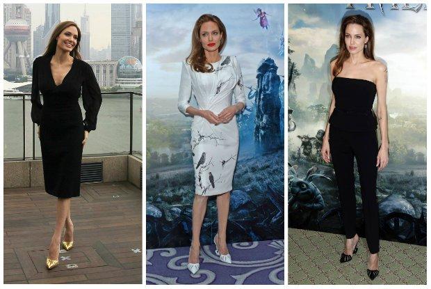 """Angelina Jolie ma a� trzy pary genialnych szpilek inspirowanych filmem """"Maleficent"""". Kto je zaprojektowa�?"""