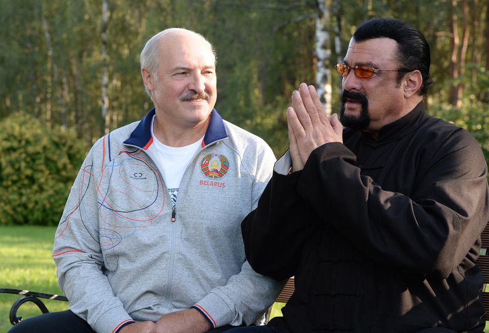 Łukaszenka i ten grubas z holiud