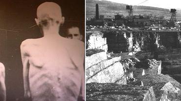 Więźniowie pracujący w kamieniołomach Gross-Rosen