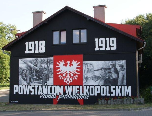 Mural o powstaniu wielkopolskim w Czerwonaku (fot. materiały gminy Czerwonak)