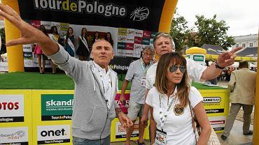 Czesław Lang na starcie trzeciego etapu wyścigu Tour de Pologne