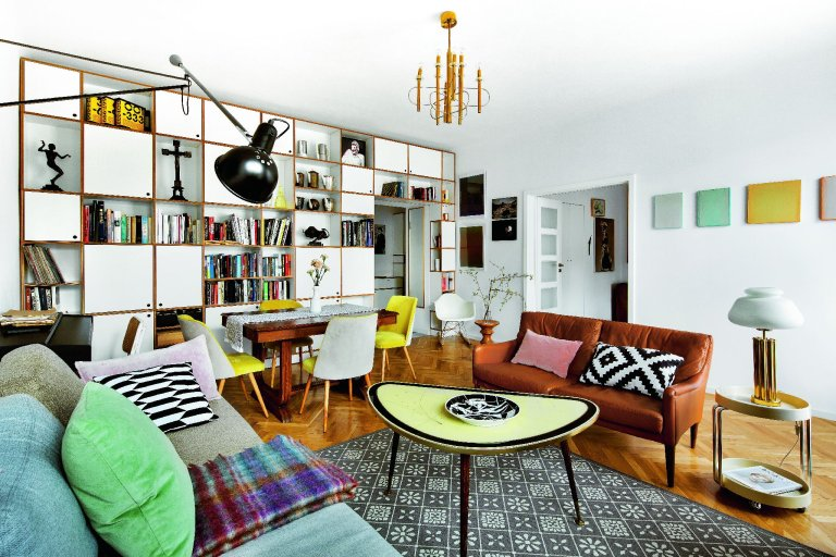 Квартира в Варшаве в духе vintage. Что за мебель!