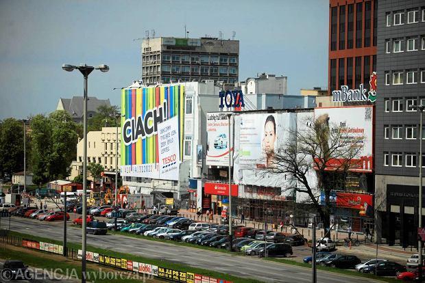 Wielkoformatowe reklamy w centrum �odzi